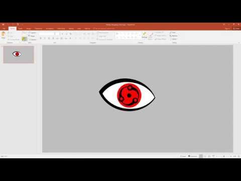 Create Madara's Mangekyo Sharingan using PowerPoint