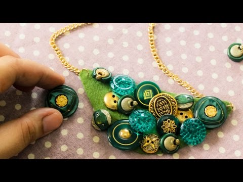 How To Make a Trendy Button Bib Necklace - DIY Style Tutorial - Guidecentral