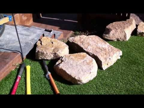 Installing stone steps Landscaping Ideas