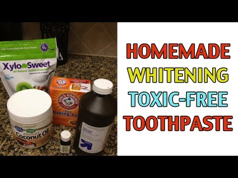 Homemade Whitening Toothpaste Recipe w/ Baking Soda