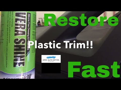 Restore Any Color Plastic Trim on Your Car or Truck For UNDER $10!!!!!  Nanoskin Vera Shine!!