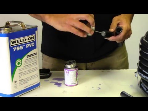 How to Cut and Solvent Weld PVC Flex Pipe