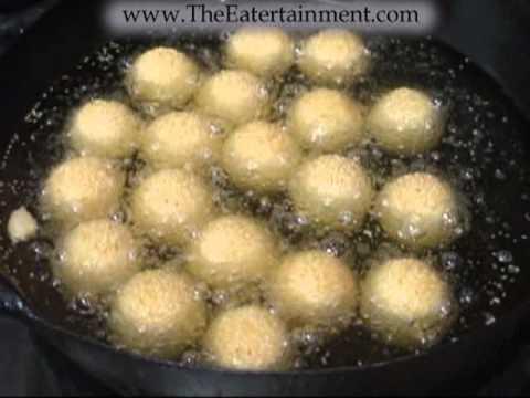 Sesame Ball Deep Fry Traditional Method