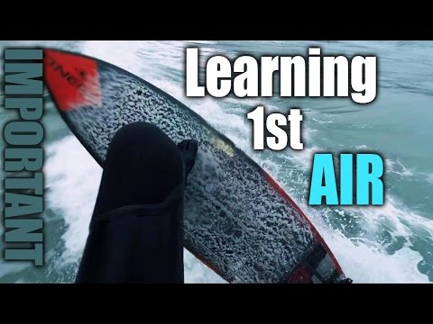 Surfing - Learning 1st Aerial & Landing