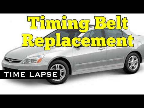 Honda V6 Timing Belt Replacement - J Series V6 - Time Lapse -Accord Odyssey Ridgeline Pilot MDX TL