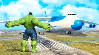 GTA 5 Mods - Hulk vs Plane
