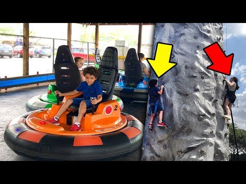 Family Fun. Trampoline - Climbing Wall - Bumper Cars - Midway Sports & Entertainment. LPK.