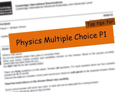 P1 Multiple Choice Top Tips - Don't PANIC!