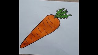 Carrot Easy Drawing For Kids Videos 9tube Tv