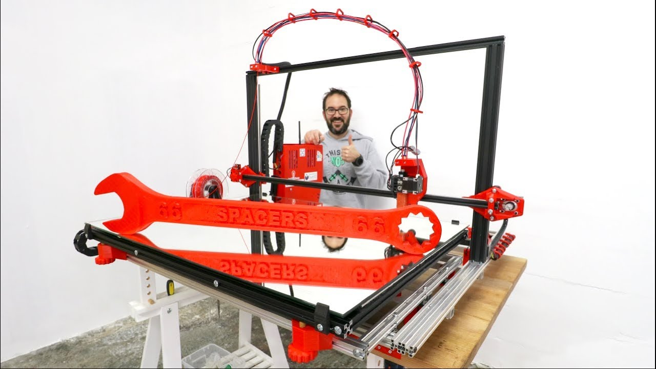 GIANT 3D PRINTER FROM SCRATCH - IT WORKS!