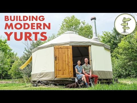 Couple Building Modern Yurt as Super Portable Tiny Home