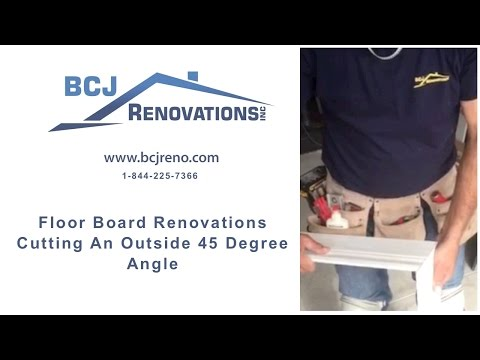 Floor Board Renovations  Cutting An Outside 45 Degree Angle