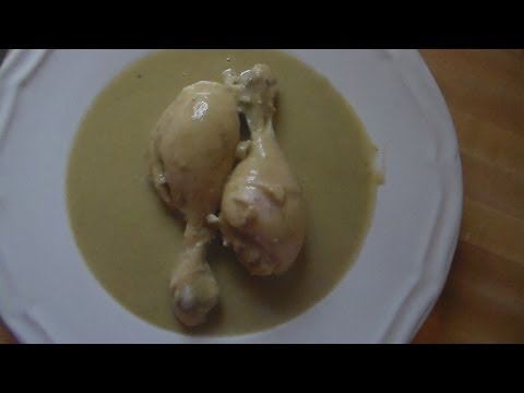 Como Hacer Mole Verde De Pollo Receta Mexicana:how to make chicken mole verde Mexican recipe.