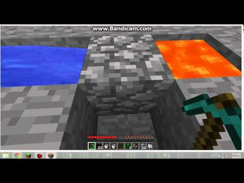 How to make a cobblestone generator and a nether portal