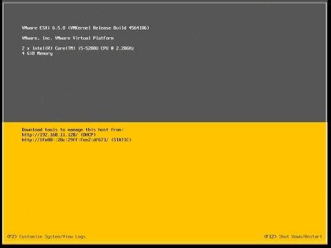 Step 1 install ESXi 6.5