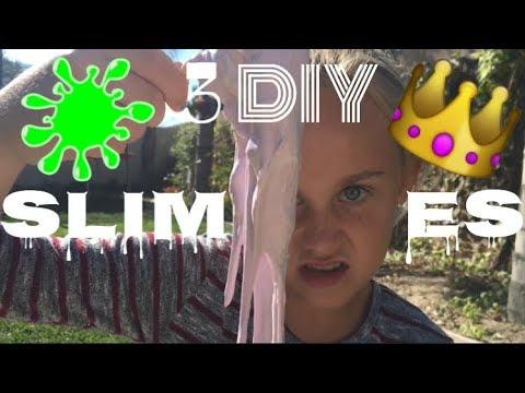 3 DIY SLIMES!!!   ft. Chloe  Maya's Diy Channel