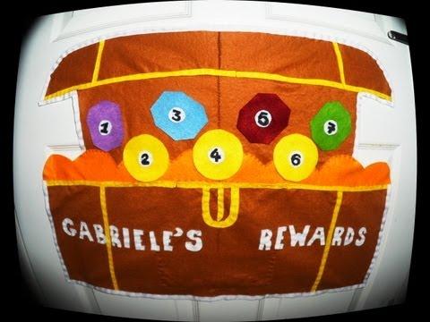 Treasure Chest Homemade Reward Chart