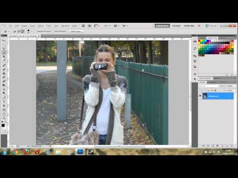 How to Blur image background tutorial Photoshop CS5