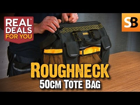 Roughneck 50cm Wide Mouth Tool Tote Bag Review