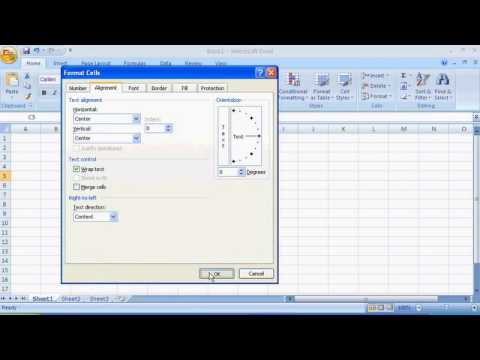changing the cell size excel 2007