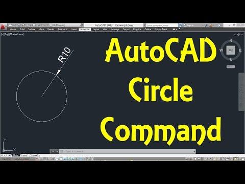AutoCAD Circle command (Basic) by Engineer AutoCAD Tutorials