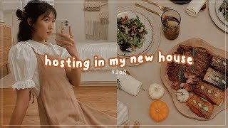 My first time hosting at my new house! Festive fall recipes 🍂