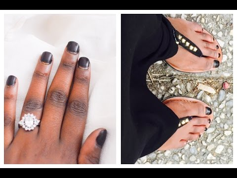 HALAL BLACK NAILS WITH BLACK HAIR DYE