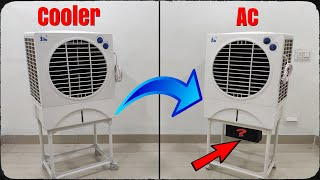 I Convert My Air Cooler into AC (Air Conditioner)
