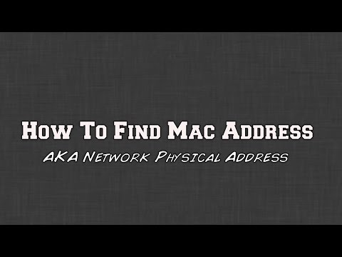 5 Easy Ways to Find Your Computers Mac Address aka Physical Address (Windows 10, 8 , 7))