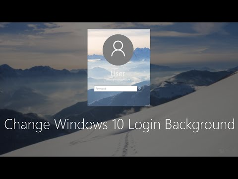 Change Windows 10 Login screen Background.