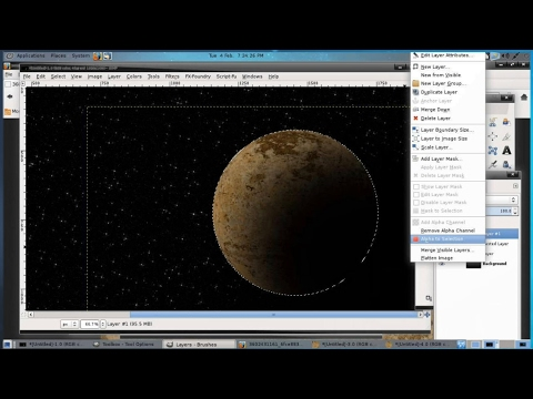 GIMP Tips # 16 - Create a Space Scene with Free Software