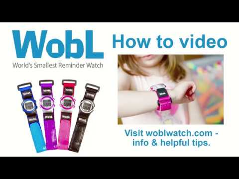 WobL Vibrating Alarm Reminder Watch
