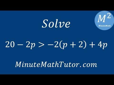 Solve 20-2p›-2(p+2)+4p