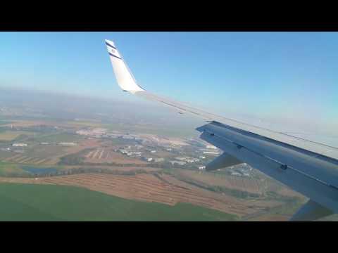 Landing in Paris airport Charles de Gaulle 09.04.2017 . Boeing El Al