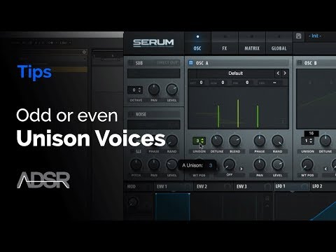 Xfer Serum - Odd or Even Unison Voices ?