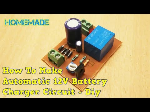 how to make 12v Automatic battery charger circuit- diy
