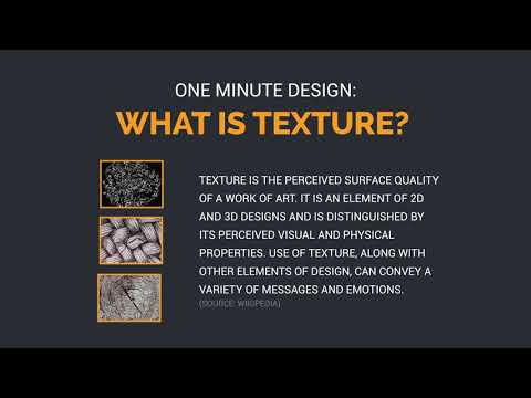 One Minute Design: What is Texture?