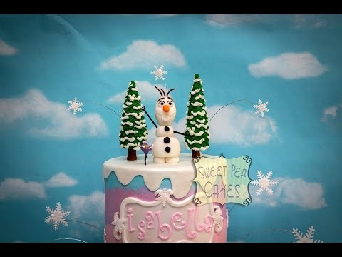 Making Fondant Trees and Olaf Part 1 of 2