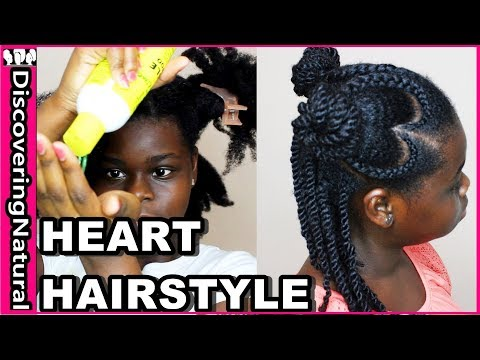 Valentine's Day Natural Hair Styles for Black Girls | Heart Cornrows ft Jamaican Mango and Lime