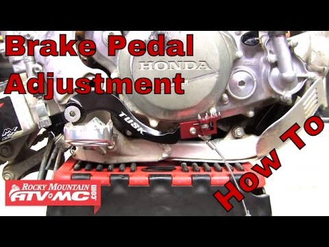 How To Adjust The Height Of Your Motorcycle Brake Pedal