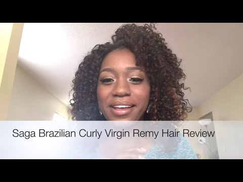 Saga Brazilian Curly Virgin Remy Hair