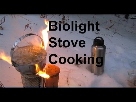 Cross Country Skiing and Cooking on the Biolight stove