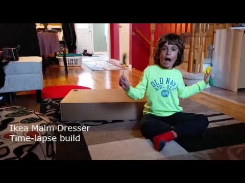 IKEA Malm dresser assembly time-lapse