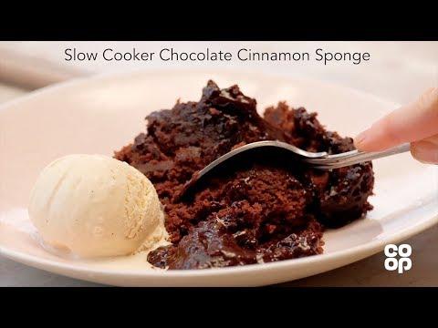 Co-op Food | Slow Cooker Chocolate Cinnamon Sponge