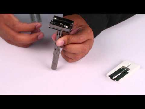How to change blades for a Parker Butterfly Brass Safety Razor