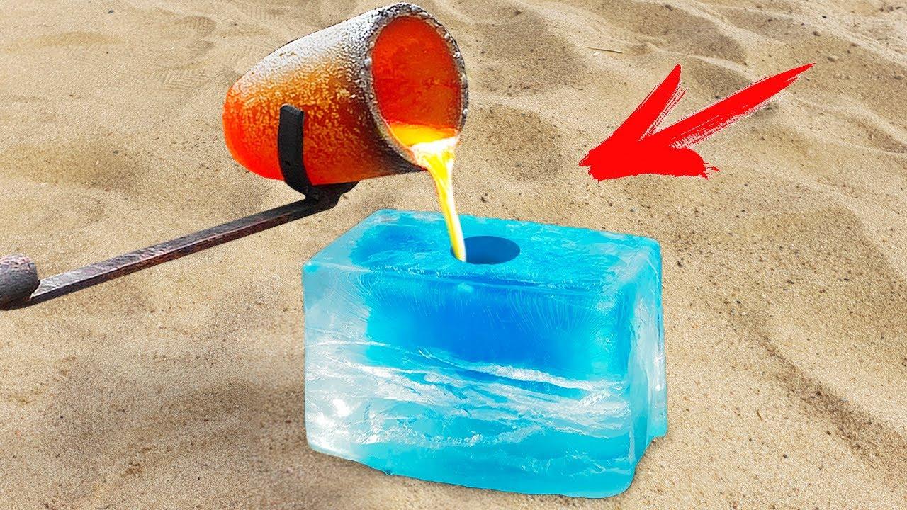 Experiment: Lava Vs Ice Cube