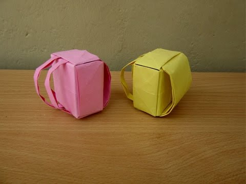 How to Make a Paper Backpack - Easy Tutorials