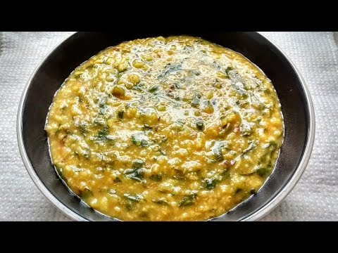 Oats palak khichdi/One pot dish with oats, spinach and lentils