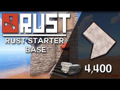 SUPER EFFICIENT RUST STARTER BASE - Rust Base Building (4,400 Stone)