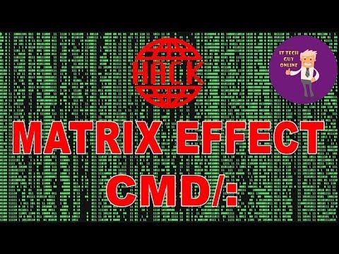 How make Create a Cool Matrix Effect in CMD